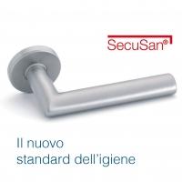 Maniglie SecuSan® con superficie antibatterica e antimicrobica.